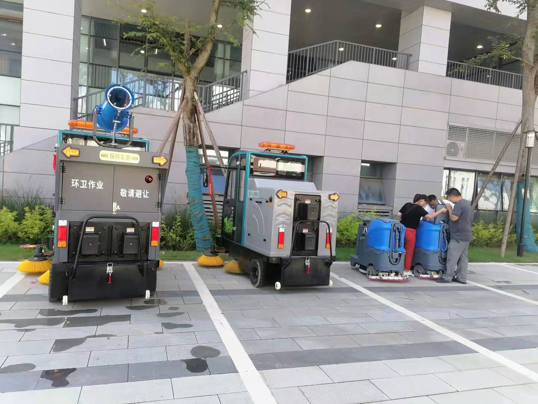 学院采购洗地机,扫地机选择成都宏雯公司