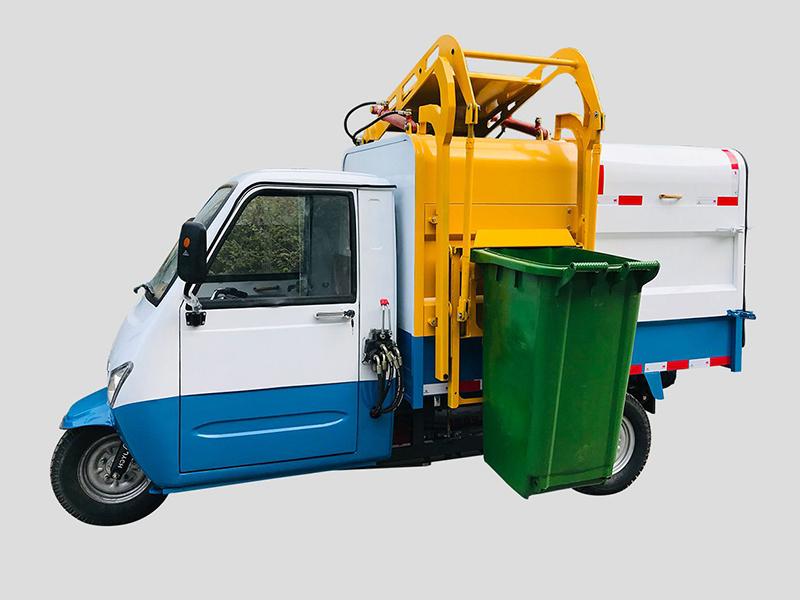 三轮全封闭电动垃圾运输自卸车