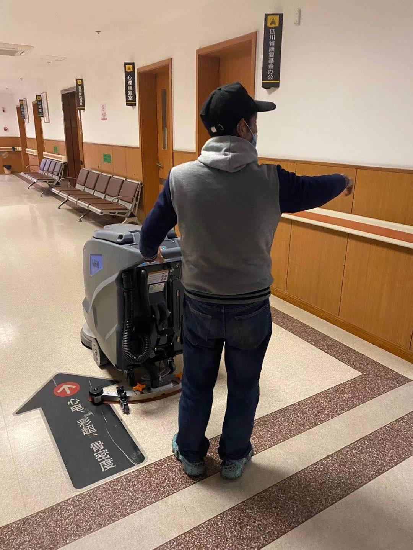 康复医院使用宏雯洗地机